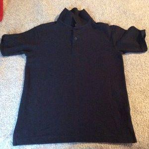 Navy blue dockers polo shirt.